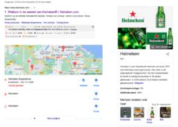 Google Mijn Bedrijf (GMB) Heineken.com