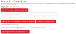 Hreflang tag generator SEO tool