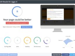Seoptimer SEO tool Ziggo.nl audit